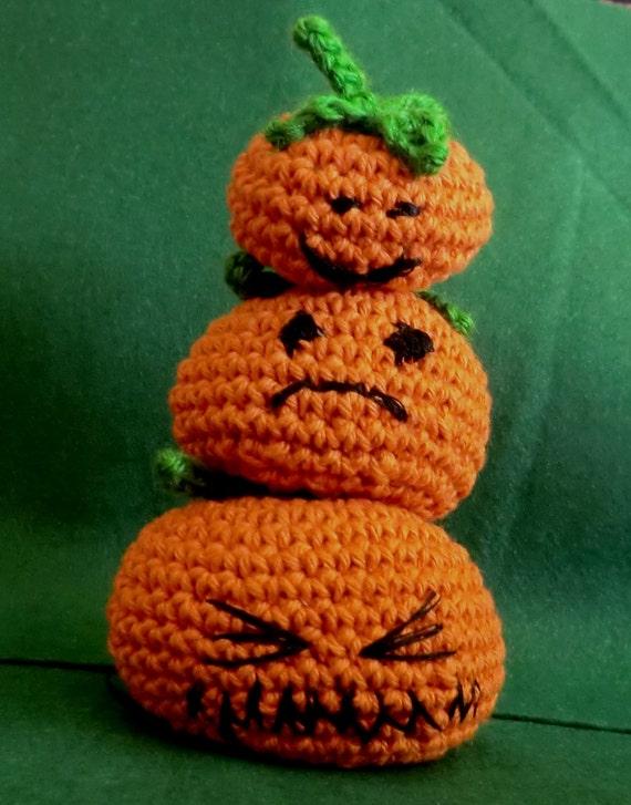 Amigurumi Pumpkin Crochet Pattern : Halloween stack o pumpkins amigurumi crochet by AmigurumiBarmy