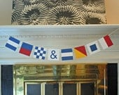 Custom Nautical Flag Paper Banner - 8 or 9 Flags