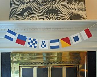 Custom Nautical Flag Paper Banner - 8 or 9 Flags