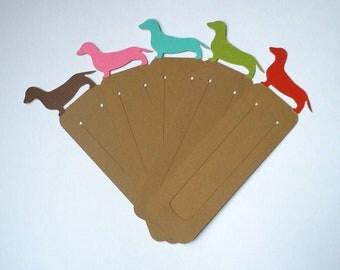 Dachshund Bookmarks - Set of 10