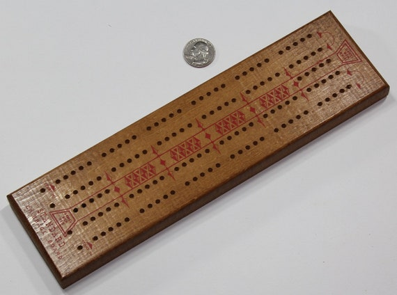 Vintage Hoyle 2 Player Wooden Cribbage Board Stancraft Products Minneapolis MN Made in the USA