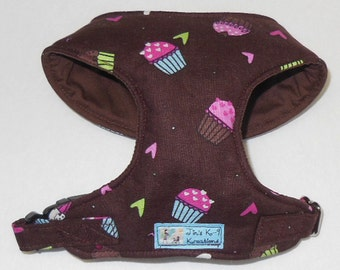 Cupcake Comfort Soft Dog Harness. -Made to Order -