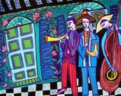 50% Off - New Orleans Jazz Musicians Art  Art Print Poster by Heather Galler (HG721)
