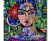 65% Off- Frida TILEFrida Kahlo Art   Mexican Folk Art Ceramic Tile  Gift COASTER