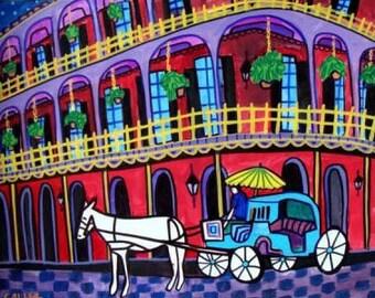 New Orleans Art  Mardi Gras Art Print Poster by Heather Galler