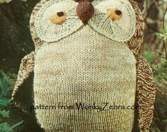 Vintage Solomon Owl Knit Pattern Knitting Instruction Toy PDF 469 from WonkyZebra