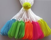 ANY COLOR Neon Tags  Set of 100 Small Jewelry Tags Labels Made To Order