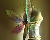 Illusionist Fairy Wings Wedding Halloween Costume Faerie Reenactment Fantasy Renaissance Cellophane Custom