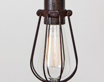 cage only oval wire bulb cage pendant sold separately. Black Bedroom Furniture Sets. Home Design Ideas