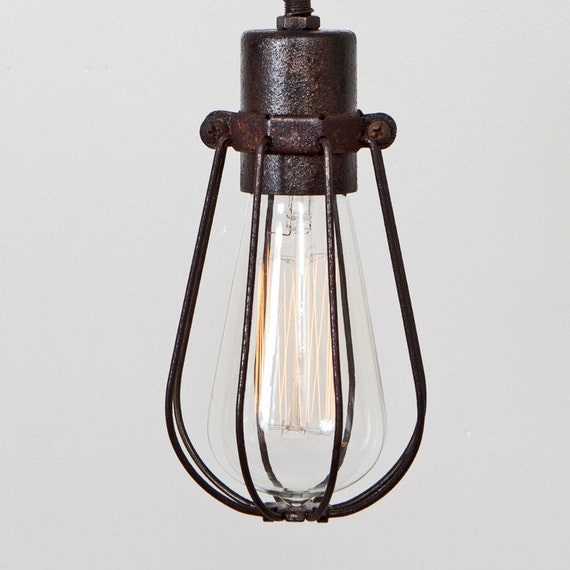 Pendant Light Bulb Wiring : Cage only oval wire bulb pendant sold separately