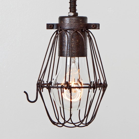 cage only basic wire bulb cage pendant sold separately. Black Bedroom Furniture Sets. Home Design Ideas