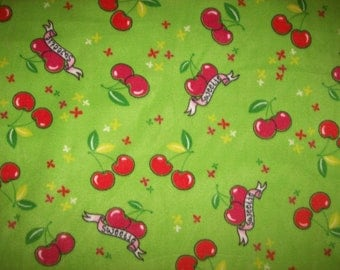A Wonderfully Soft Sweetie Cherry Fleece Fabric Sold By The Yard Free US Shipping