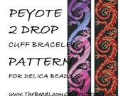 Peyote 2 Drop Cuff Bracelet Pattern Vol.18 - PDF File PATTERN