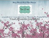 Cherry Blossom Placemats / Printable Disposable Placemats / Instant Download Party Graphics DIY Printable Placemats
