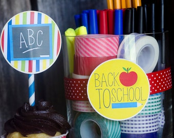 Back To School Party PRINTABLE Party Circles (INSTANT DOWNLOAD) by Love The Day