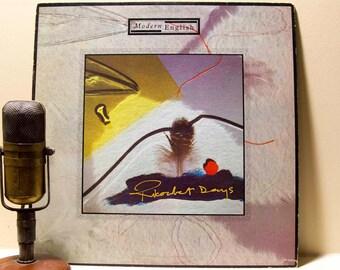 "Modern English Vinyl Record Album 1980s English New Wave Post Punk LP ""Ricochet Days"" (Original 1984 4A.D. Records)"