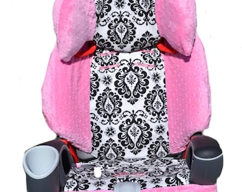 Graco Nautilus 3 in 1 Car Seat Cover- Damask & Pink