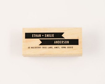 custom banner address stamp