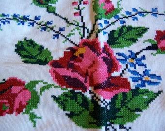 cotton cross stitch pillow case
