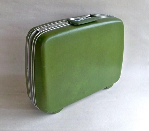 1970s Avocado Green Samsonite Silhouette Suitcase