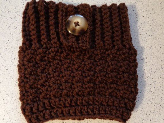 Boot Cuffs in  Chocolate Brown