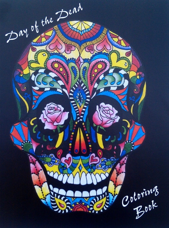 Items similar to Adult (and kids) cOLoRiNg bOoK, Dia de los Muertos ...