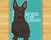 Scottish Terrier Magnet - My Wish is Your Command - Scottish Terrier Fridge Refrigerator Dog Magnets