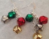 Sleigh Bells Ring Are You Listening-- Jingle Bell Earrings