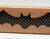 Polka Dot Bat Wood Mounted Rubber Studio G Stamp NEW RELEASE