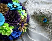 Wedding Bouquet - Centerpieces - Peacock Inspired - Customize your Style and Colors - Made To Order