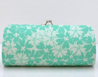 Sequins in Turquoise..Small Clutch Purse