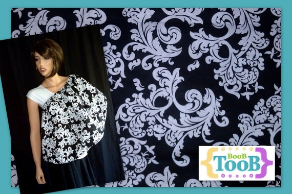 NEW Print: Black and White Elegance BooB TooB, The ONLY Nursing Cover That's Got Your Back