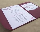 Cherry Blossoms Pocketfold Invitation Suite - Sample