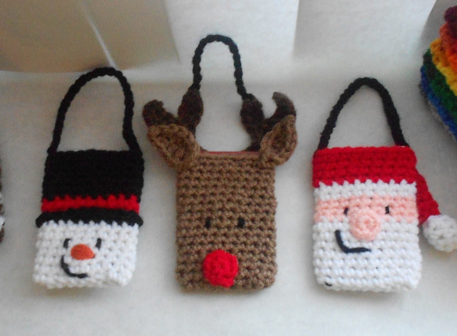 Free Crochet Pattern Christmas Gifts : Christmas Gift Card Holder and Ornament Set Crochet Pattern