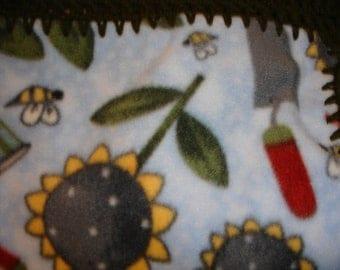 Sunflower Fleece Throw