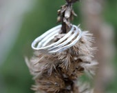 Hammered Stacking - Rings Sterling Silver - Hand Fabricated