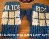 Knitting Pattern: Doctor Who Tardis Fingerless Gloves