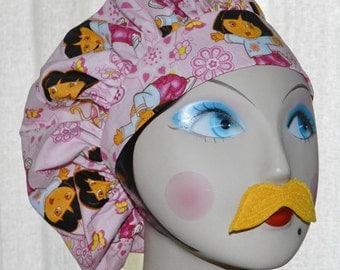Dora the Explorer Banded Bouffant Surgical Cap
