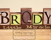 Name Blocks - Boy Name Blocks - I can Match any Room Interior