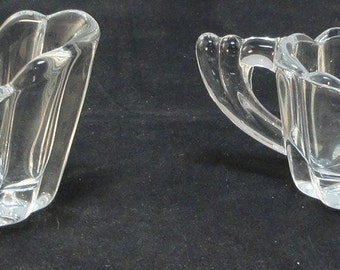 Depression Glass Heisey Crystolite Individual Sugar Creamer Set
