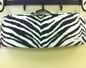 Black and white zebra print flat iron/Curling iron case.