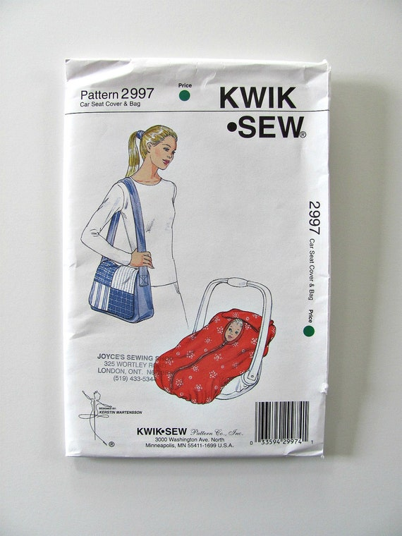 Baby Carrier Or Car Seat Cover Sewing Pattern Kwik Sew 2997
