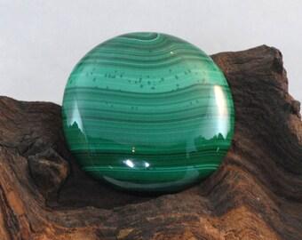 Malachite large round cabochon natural gemstone 139 cts