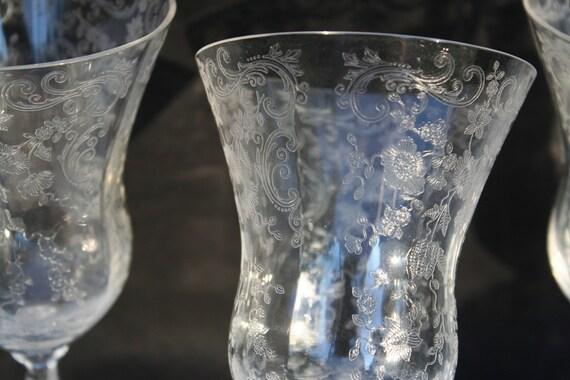 Amazing Set Of 5 Very Old Vintage Cambridge Glass Company