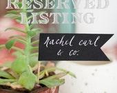 RESERVED Listing for Sandy Lantz Scalloped Kraft Tags for Wedding Smores