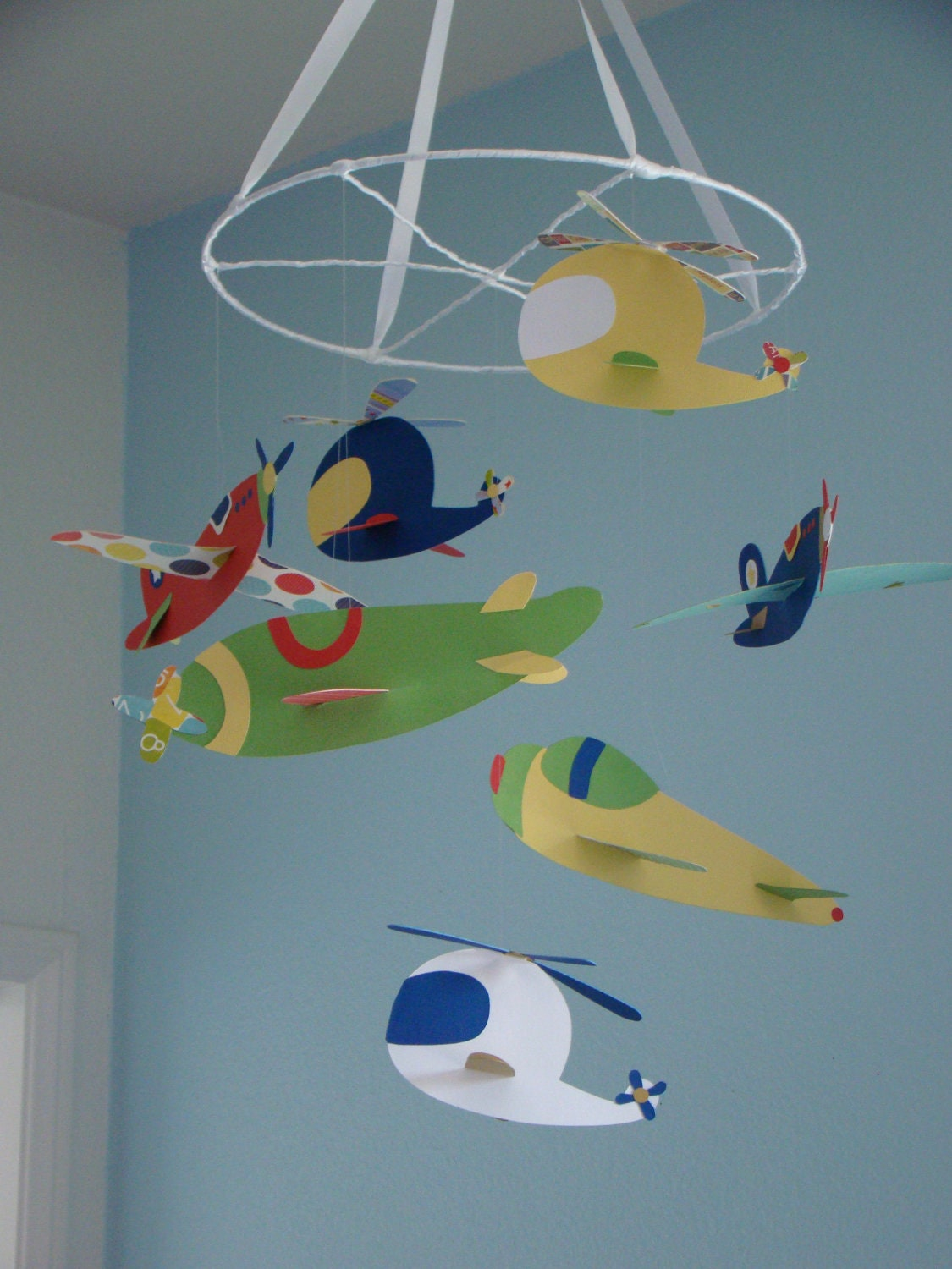 Airplane Helicopter Baby Mobile Ceiling Hanging Photography