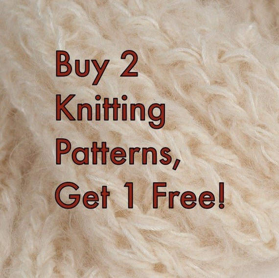 Buy 2 Knitting Patterns, Get 1 Free: Necklace Scarf, 3D Evergreens, Ginkgo Purse, Ribbon Cowl, or Beer Growler Cozy
