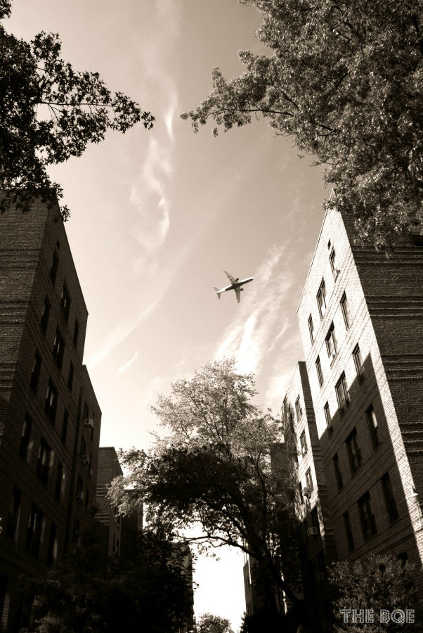 Flying Over Flushing 8x12 Photography Print NYC Photo by thebqe