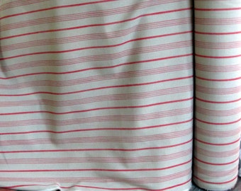 French  Laundry -- upholstery multipurpose fabric Stripes in RED