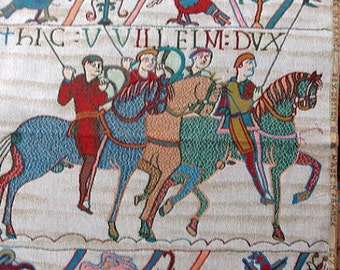 French Tapestry Panel with HORSEMEN  20x20